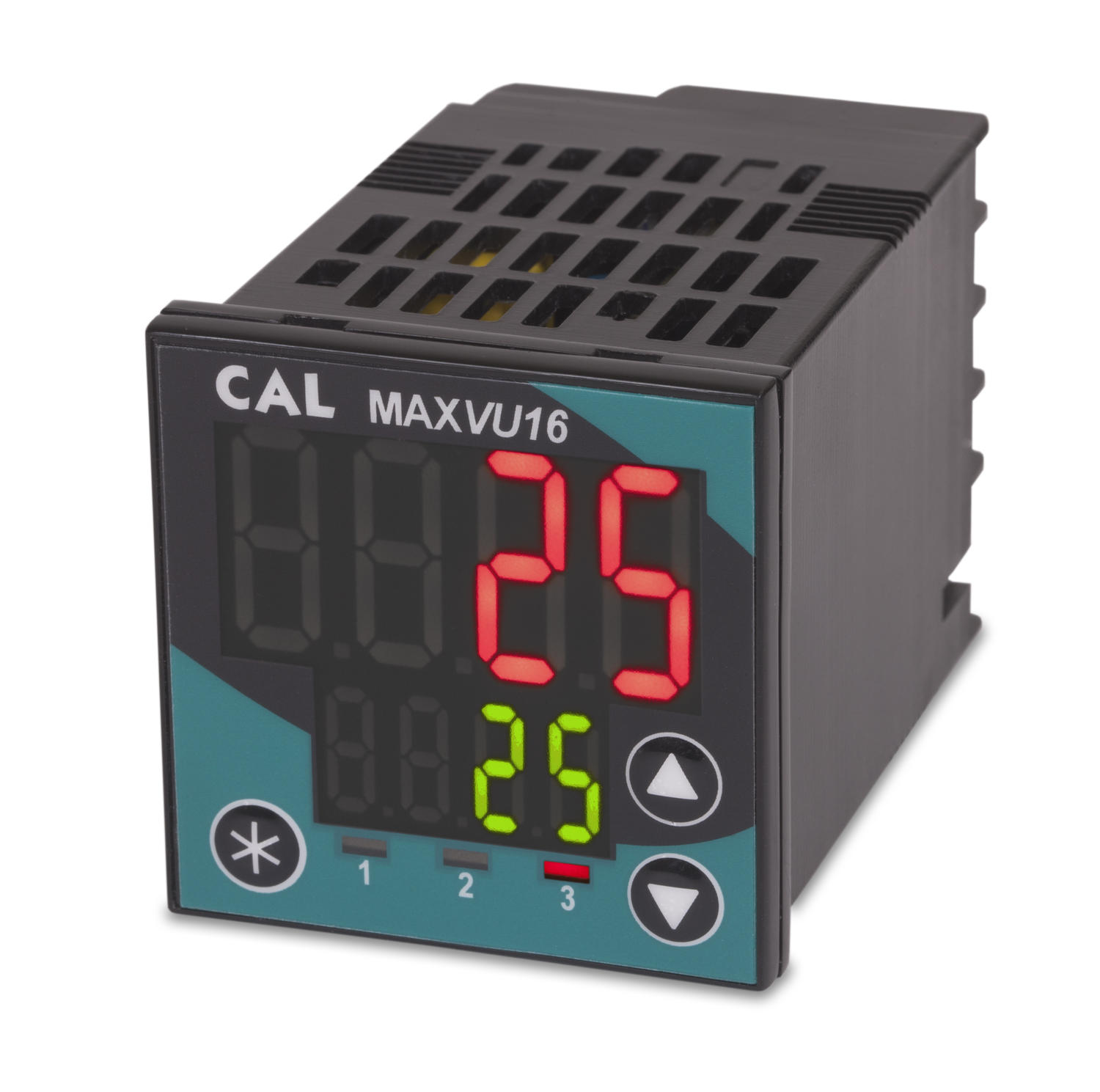 Temperatur- och processregulator, Max Vu