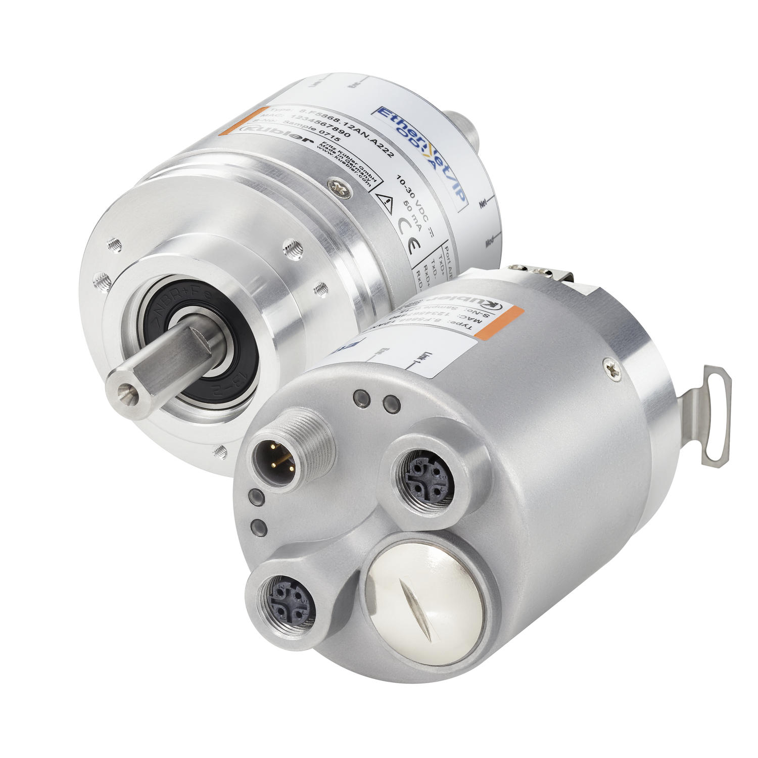 Absolutkodad vinkelgivare Sendix F5858/F5878, optisk, EtherNet/IP, Ø58 mm